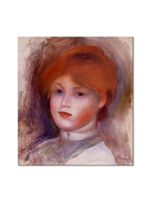 Tablou Arta Clasica Pictor Pierre-Auguste Renoir Head of a young woman 1893 80 x 90 cm