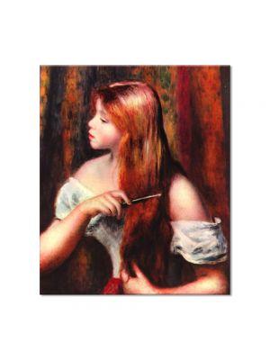 Tablou Arta Clasica Pictor Pierre-Auguste Renoir Young girl combing her hair 1894 80 x 90 cm