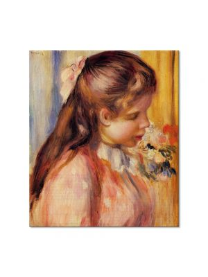 Tablou Arta Clasica Pictor Pierre-Auguste Renoir Bust of a young girl 1895 80 x 90 cm