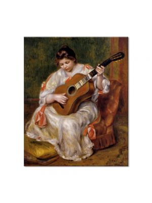Tablou Arta Clasica Pictor Pierre-Auguste Renoir Woman playing the guitar 1896 80 x 90 cm