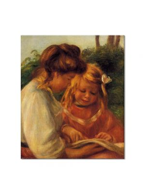 Tablou Arta Clasica Pictor Pierre-Auguste Renoir The Alphabet Jean and Gabrielle 1897 80 x 90 cm