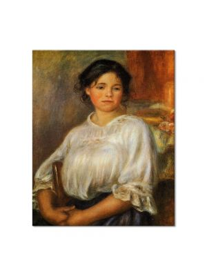 Tablou Arta Clasica Pictor Pierre-Auguste Renoir Young woman seated 1909 80 x 90 cm
