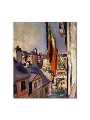 Tablou Arta Clasica Pictor Pierre-Auguste Renoir Flag decorated street 1906 80 x 90 cm