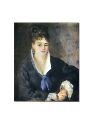 Tablou Arta Clasica Pictor Pierre-Auguste Renoir Lady in a black dress 1876 80 x 90 cm