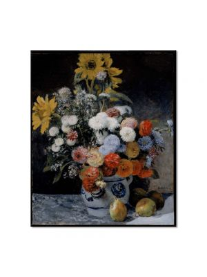 Tablou Arta Clasica Pictor Pierre-Auguste Renoir Mixed flowers in an earthware pot 1869 80 x 90 cm