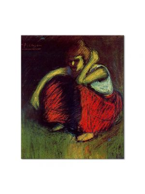 Tablou Arta Clasica Pictor Pablo Picasso A red skirt 1901 80 x 90 cm