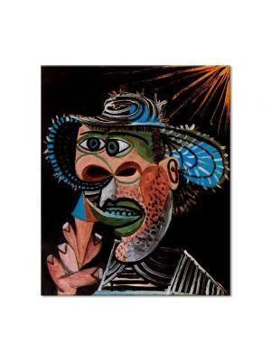 Tablou Arta Clasica Pictor Pablo Picasso Man with straw hat 1938 80 x 90 cm
