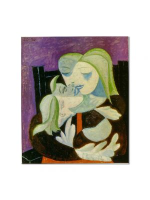 Tablou Arta Clasica Pictor Pablo Picasso Mother and child. Marie-Therese and Maya 1938 80 x 90 cm