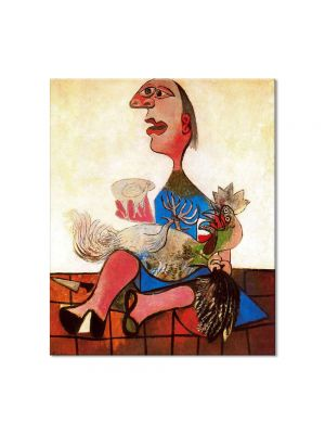 Tablou Arta Clasica Pictor Pablo Picasso Woman with cockerel 1938 80 x 90 cm
