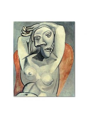 Tablou Arta Clasica Pictor Pablo Picasso Woman sitting in red armchair 1939 80 x 90 cm