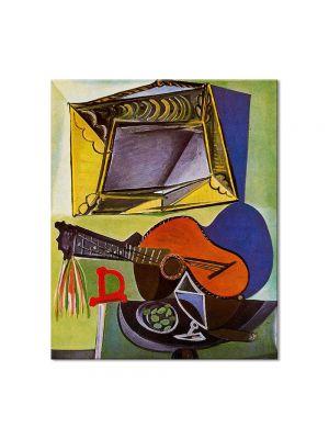 Tablou Arta Clasica Pictor Pablo Picasso Still life with Guitar 1942 80 x 90 cm