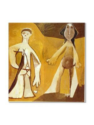 Tablou Arta Clasica Pictor Pablo Picasso Man and Woman 1958 80 x  80 cm