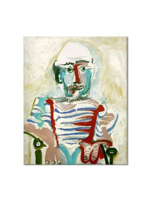 Tablou Arta Clasica Pictor Pablo Picasso Seated man. Self-portrait 1965 80 x 90 cm