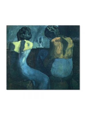 Tablou Arta Clasica Pictor Pablo Picasso Two women sitting at a bar 1902 80 x 90 cm