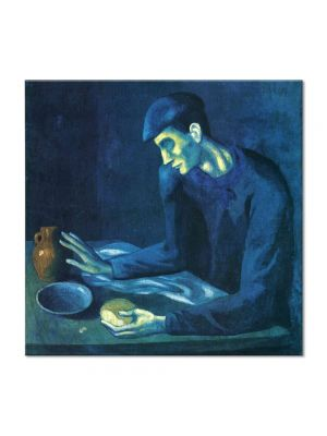 Tablou Arta Clasica Pictor Pablo Picasso Breakfast of a Blind Man 1903 80 x  80 cm