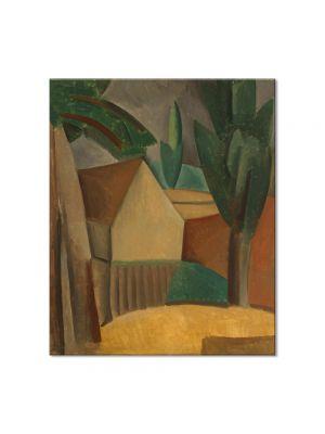 Tablou Arta Clasica Pictor Pablo Picasso House in a Garden 1908 80 x 90 cm