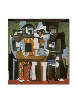Tablou Arta Clasica Pictor Pablo Picasso Musicians with masks 1921 80 x  80 cm
