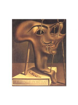 Tablou Arta Clasica Pictor Salvador Dali Soft Self-Portrait with Fried Bacon 1941 80 x 90 cm