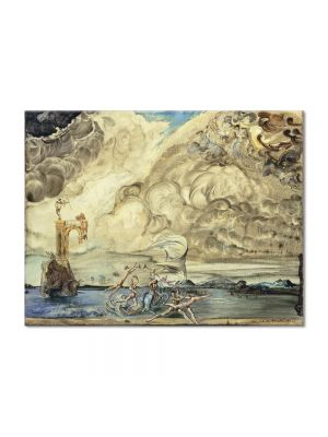 Tablou Arta Clasica Pictor Salvador Dali The Triumph of Tourbillon 1943 80 x 100 cm
