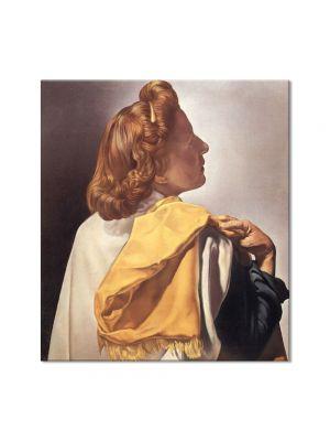 Tablou Arta Clasica Pictor Salvador Dali Gala Contemplate Corpus Hypercubus 1954 80 x 90 cm