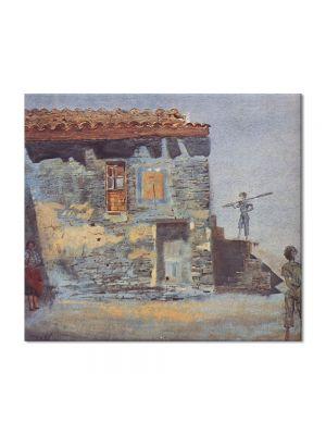 Tablou Arta Clasica Pictor Salvador Dali Noon. Barracks of Port Lligat 1956 80 x 90 cm