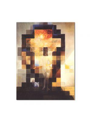 Tablou Arta Clasica Pictor Salvador Dali Gala Contemplating Becomes the Portrait of Abraham Lincoln 1976 80 x 100 cm