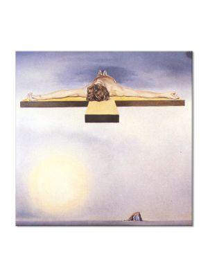 Tablou Arta Clasica Pictor Salvador Dali Gala's Christ 1978 80 x  80 cm