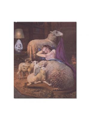Tablou Arta Clasica Pictor Salvador Dali Reclining girl in sheep 1942 80 x 90 cm