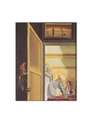Tablou Arta Clasica Pictor Salvador Dali Gala and The Angelus of Millet Before the Imminent Arrival of the Conical Anamorphoses 1933 80 x 100 cm