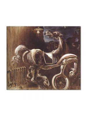 Tablou Arta Clasica Pictor Salvador Dali Debris of an Automobile Giving Birth to a Blind Horse Biting a Telephone 1938 80 x 90 cm