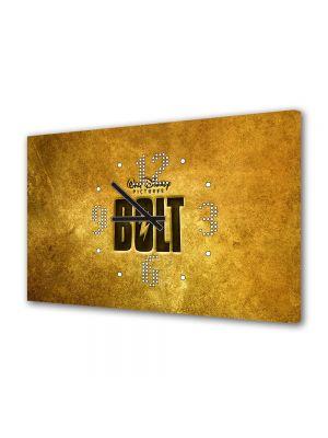 Tablou Canvas cu Ceas Animatie pentru Copii Bolt Logo, 30 x 45 cm