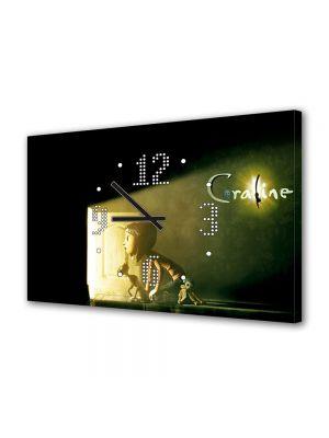 Tablou Canvas cu Ceas Animatie pentru Copii Film Coraline, 30 x 45 cm