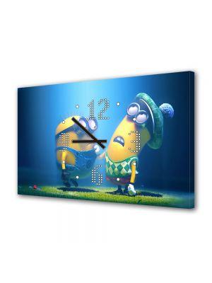 Tablou Canvas cu Ceas Animatie pentru Copii Despicable Me 2 2013, 30 x 45 cm