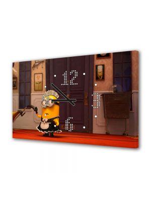 Tablou Canvas cu Ceas Animatie pentru Copii Comedie Animata Despicable Me 2, 30 x 45 cm