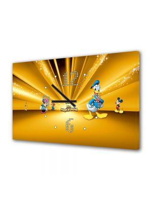 Tablou Canvas cu Ceas Animatie pentru Copii Disney Personaje, 30 x 45 cm