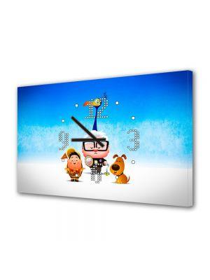 Tablou Canvas cu Ceas Animatie pentru Copii Up Kawaii, 30 x 45 cm