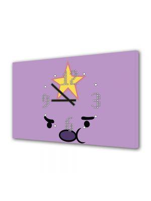 Tablou Canvas cu Ceas Animatie pentru Copii Adventure Time Jumpy Space Princess, 30 x 45 cm
