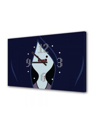 Tablou Canvas cu Ceas Animatie pentru Copii Adventure Time Marceline, 30 x 45 cm