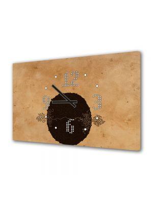 Tablou Canvas cu Ceas Animatie pentru Copii 2 copacei, 30 x 45 cm