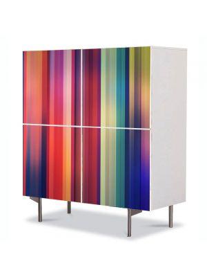 Comoda cu 4 Usi Art Work Abstract Perdea de culori, 84 x 84 cm