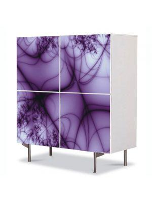 Comoda cu 4 Usi Art Work Abstract Ceata violet, 84 x 84 cm