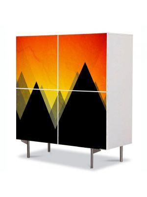 Comoda cu 4 Usi Art Work Abstract Padure abstracta, 84 x 84 cm