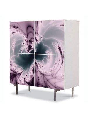 Comoda cu 4 Usi Art Work Abstract Nori , 84 x 84 cm