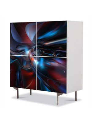 Comoda cu 4 Usi Art Work Abstract Futuristic 3, 84 x 84 cm