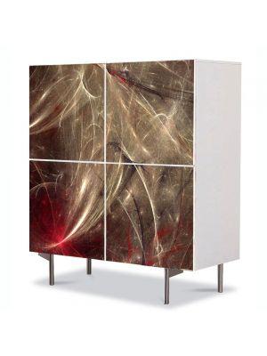 Comoda cu 4 Usi Art Work Abstract Celule 2, 84 x 84 cm