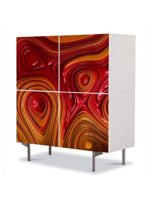Comoda cu 4 Usi Art Work Abstract Plastic topit, 84 x 84 cm