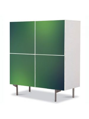 Comoda cu 4 Usi Art Work Abstract Verde pal, 84 x 84 cm