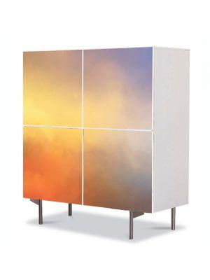 Comoda cu 4 Usi Art Work Abstract Degrade rosu-mov, 84 x 84 cm