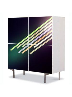Comoda cu 4 Usi Art Work Abstract Neon , 84 x 84 cm