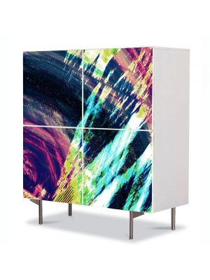 Comoda cu 4 Usi Art Work Abstract Pop art, 84 x 84 cm